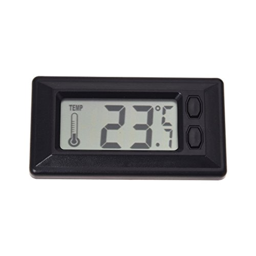 TOOGOO(R) Termometro de Temperatura interior de coche con Pantalla LCD Digital