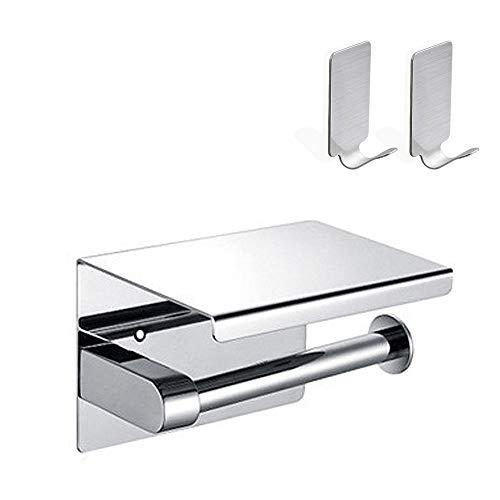 DoGeek Portarrollos para Papel Higiénico Sin Perforación, con Acero Inoxidable SUS 304, para Baño (cubrir)