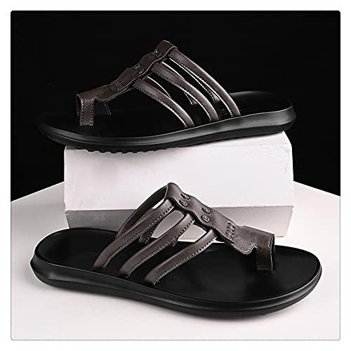 NMJKH Zapatillas De Moda Para Hombre De Verano, Chanclas De Playa Al Aire Libre, Zapatos Planos Resistentes Al Desgaste Casuales (Color : Gray, Size : 40yards)