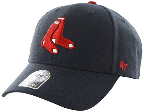 47 Brand Boston Red Sox MLB MVP Structured Adjustable Hat Chapeau - Socks Logo