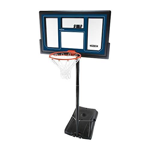 Lifetime 1529 Courtside höhenverstellbares tragbares Basketball-System, 127,7 cm, bruchsichere Rückwand