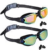 EverSport Swim Goggles, Pack of 2 Swimming Goggles, Swim Glasses No Leaking Anti Fog UV Protection for Adult Men Women...