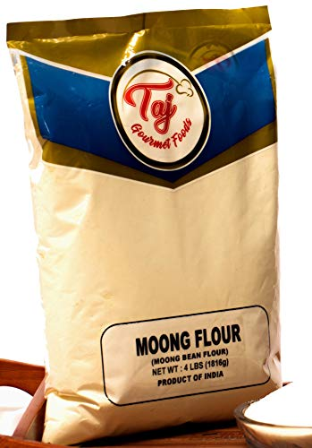 TAJ Premium Indian Moong Mogar Flour, 4-Pounds