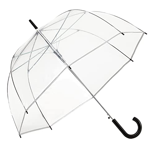 ShedRain Clear Bubble Umbrella – See Through, Rain & Windproof Umbrella - Perfect for Weddings, Prom, Graduation and Outdoor Events - Automatic...