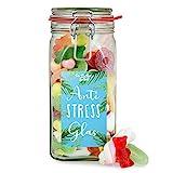 Anti Stress Glas - süße Nervennahrung im Glas für alle Notfälle, Geschenkidee für Freunde, Familie und Mitarbeiter