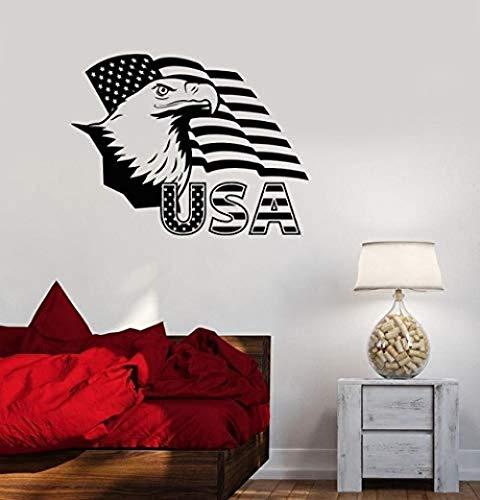 55x42 cm águila americana bandera americana diseño de habitación estilo universitario dormitorio arte pegatina de pared pegatina de diseño personalizado