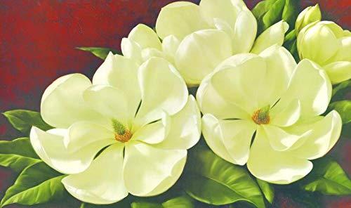 Blanco Y Elegante Lotus Magnolia Pintura Al Óleo 300 Piezas Rompecabezas para Adultos Niños Juego Educativo para Adultos Childpremium Jigsaw Puzzle Box