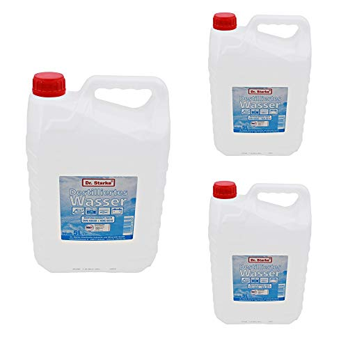 Dr. Starke 15 litres of distilled water (3 canisters of 5 litres each) iron camping aquariums