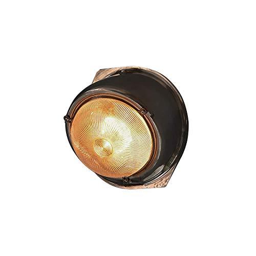 GYPPG Lámpara de Pared rústica, luz de Estilo Marino, Linterna de Pared para Interiores/Exteriores para Puerta de Entrada, Patio Trasero, Garaje, sótanos o cabañas, lámpara de Pared de Forma OVA