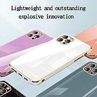 YABAISHI Logo電気めっきガラスのアップル11pro Rubikの立方体シリコーン全カバーケースのiPhone12携帯電話ケースに適しています (Color : Bright white, Size : IPhone12mini)