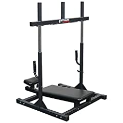 Takes the stress off of your back and isolates your lower body. Three weight posts for plenty of room to add weight. Adjustable footplate starting height to suite different size athletes. High quality steel construction and pads for a solid, comforta...