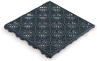 Antihumedades Pack de 24 losetas Suelos de terraza, Piscinas, trasteros (30x30cm) - Gris