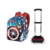 KARACTERMANIA Captain America First-Sac à Dos à roulettes Basic Multicolour One Size