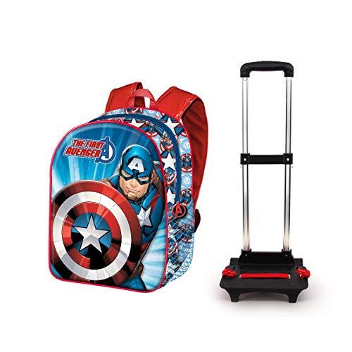 Capitán América First-Mochila Basic con Carro