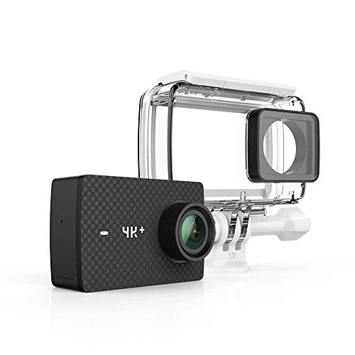 YI 4K+/60fps Action Camera with Waterproof Case, Plus Voice Control and 12MP RAW Image (Black)