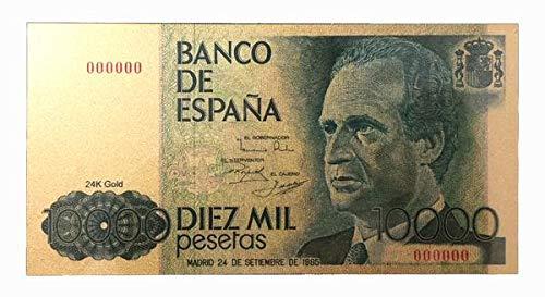 IMPACTO COLECCIONABLES Juan Carlos I. Billete de 10.000 Pesetas en Oro