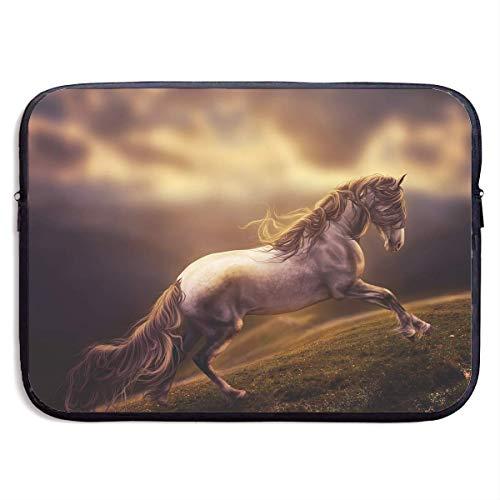 Fashion Computer Liner Sleeve Case Fantasy Horse Running Art Portable Laptop Protective Bag Cover Handbag for MacBook Pro/MacBook Air/Asus/Dell,13inch