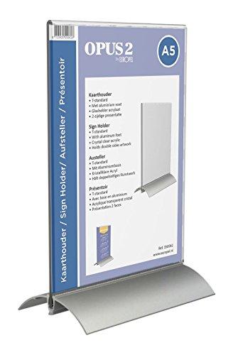 OPUS 2 350061-Tischaufsteller, Aluminium Acryl, DIN A5, Hoch