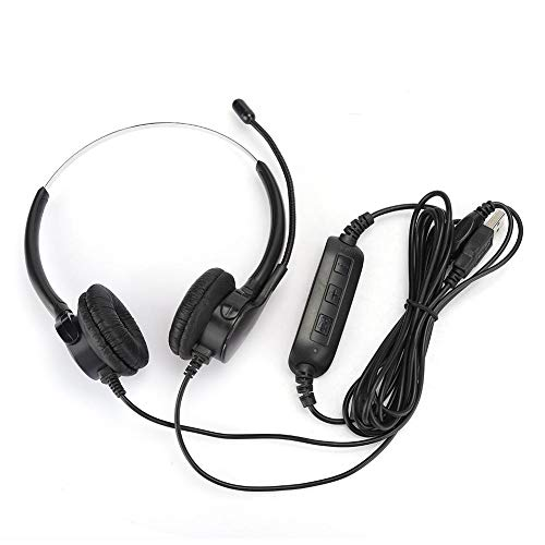 New cigemay in Head-Mounted USB Earphone, Headset, Binaural Headset, PU Leather Material Comfortable...