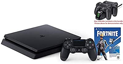New Playstation 4 Slim 1TB Console fortnite Bundle w/HESVAP Valued 29.99 Charging Station Dock by Hesvap