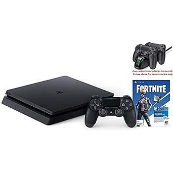 New Playstation 4 Slim 1TB Console fortnite Bundle w/HESVAP Valued 29.99 Charging Station Dock