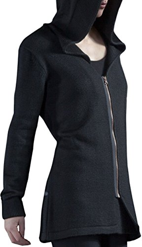 Musterbrand Assassin's Creed Cardigan Damen Fairfax Zip-Hoodie Wolle Schwarz XS