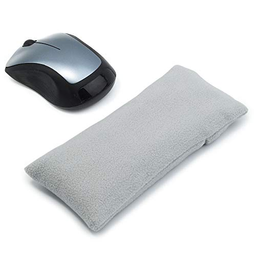 Mouse Wrist Rest Support Pad - Ergonomic Mouse Pad with Wrist Support for Computer, Laptop, Office Work, PC Gaming, Massage Ergobeads (Gray, Mouse)