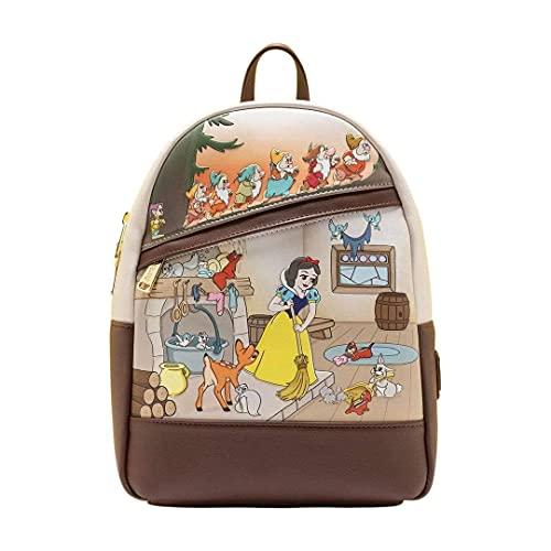 Loungefly Disney Snow White and Seven Dwarfs Multi Scene Womens Double Strap Shoulder Bag Purse
