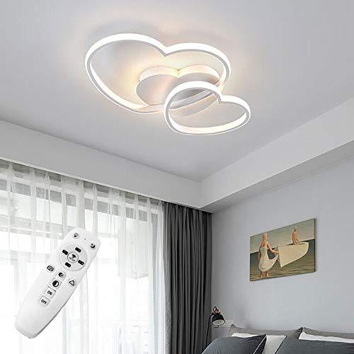 LED-Deckenleuchte dimmbar, modernes Design in Herzform, Deckenlampe mit Acrylschirm, Kronleuchter aus Metall für Esszimmer, Küchenlampen (weiß)