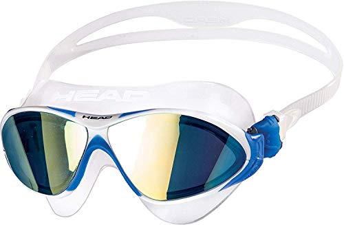 HEAD Erwachsene Schwimmbrille Horizon Mirrored Sil, Clear-White Blue, One Size