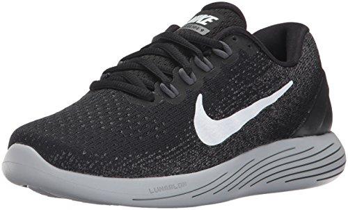 Nike Damen WMNS Lunarglide 9 Laufschuhe, Mehrfarbig (Black/White/Dark Grey/Wolf Grey 001), 38 EU (4.5 UK)