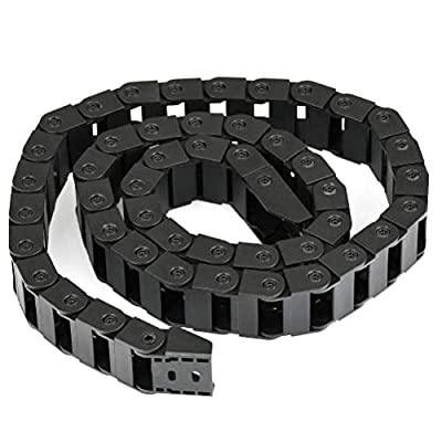 YOTINO Plastic Towline 10mm x 20mm 3D Printer Drag Chain Cable Carrier 1 Meter Long Black Color