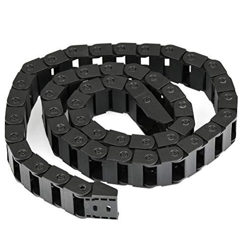 YOTINO Gancio di Traino in Plastica 10mm x 20mm Stampante 3D Cavo Portacavi per Catena da 1 Metro di Colore Nero Catena Portacavi Catena Stampante 3d