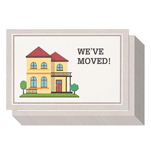 50PACK Wir umgezogen Postkarten für Ankündigungen Füllen in die leere Change of Address Post Karten–Selbst Mail Versandtaschen Seite Postkarten 50Karten pro Pack Porto Saver–10,2x 15,2cm
