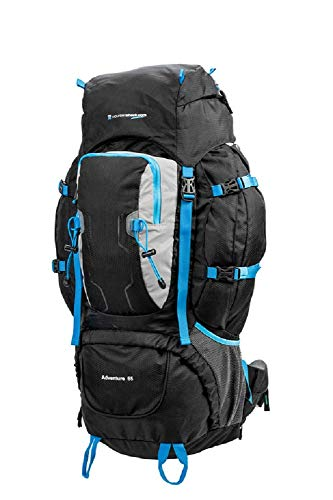 Adventure Camping, Hiking & Travel Large Light weight 65 Litre Rucksack Backpack Bag By MountainShack