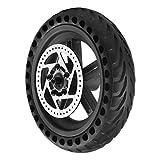 Captina Neumático sólido con buje y Disco de Freno, Juego de neumáticos antipinchazos para buje de Rueda Trasera, Piezas de Repuesto compatibles con Scooters eléctricos Xiaomi Mijia M365