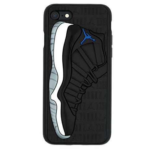 iPhone 8+ 5.5' Case, Jordan 11s 3D Textured Sneaker Shockproof Protective Grippy Case for Apple iPhone 8 Plus (Space Jam 11s)