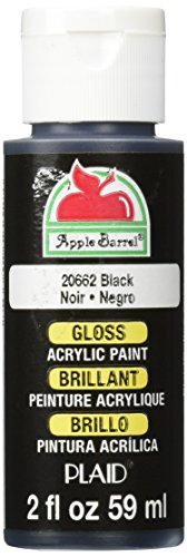 Apple Barrel Gloss Acrylic Paint in Assorted Colors (2-Ounce), 20662 Black