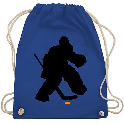Shirtracer Eishockey - Eishockeytorwart Towart Eishockey - Unisize - Royalblau - eishockey torwart - WM110 - Turnbeutel und Stoffbeutel aus Baumwolle