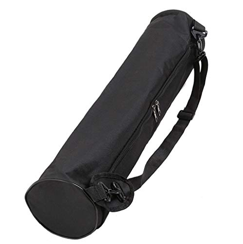 N_A Bolsa para esterilla de yoga, aparatos de fitness, para tienda de campaña y mucho más, bolsa de yoga, bolsa de transporte aprox. 72 cm de largo, impermeable, con bolsillo con cremallera, color Negro , tamaño talla única