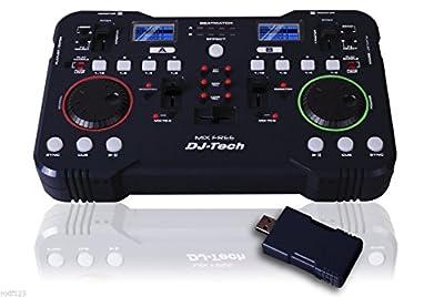 DJ-TECH Mix Free 2.4GHZ Wireless Mixer USB DJ Music MP3 Mixing Controller PC & Mac Professional, DJ, Disco Party,
