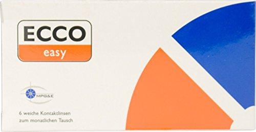 Ecco easy AS Monatslinsen weich, 6 Stück/BC 8.7 mm/DIA 14.4 mm / +0.25 Dioptrien