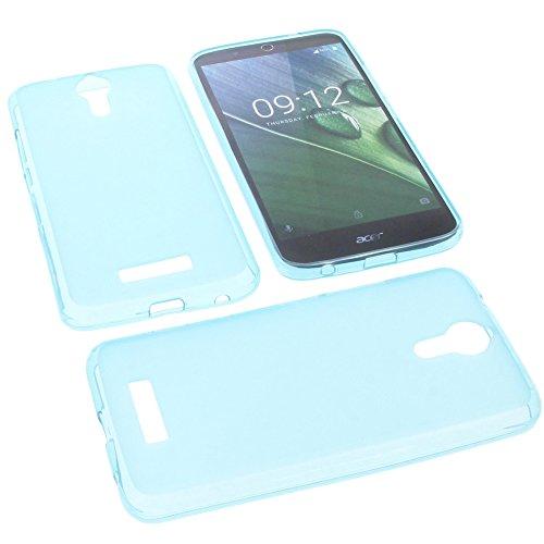foto-kontor Tasche für Acer Liquid Zest Plus Gummi TPU Schutz Handytasche blau