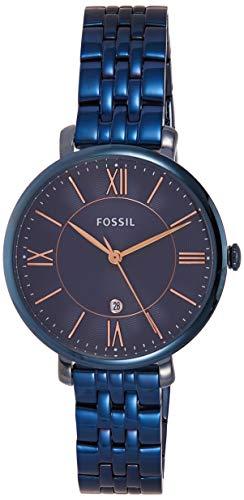 Fossil ES4094P - Reloj (Reloj de Pulsera, Acero Inoxidable, Azul, Acero Inoxidable, Azul, Alrededor)