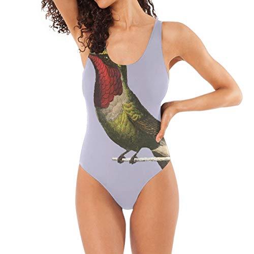 BEUSS Impression d'Oiseau Bleu Badeanzug Damen Badeanzüge Einteilier Bademode Sportlich Schwimmanzug Monokini für Mädchen