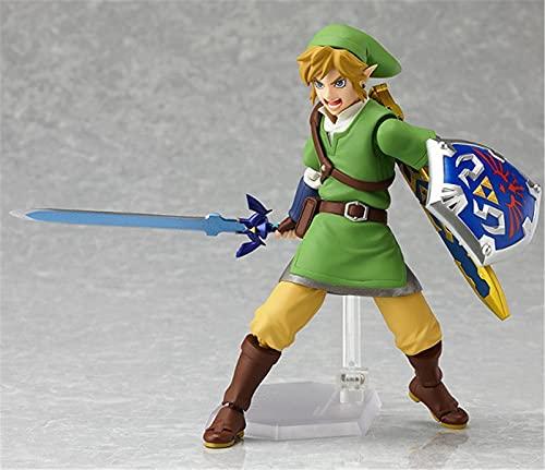Gettop Leyenda De Zelda Mini Anime Figura, Espada del Cielo Enlace Modelo De Muñeca Hecha A Mano 13cm Figuras De PVC Juguetes Regalo De Cumpleaños & Decoración