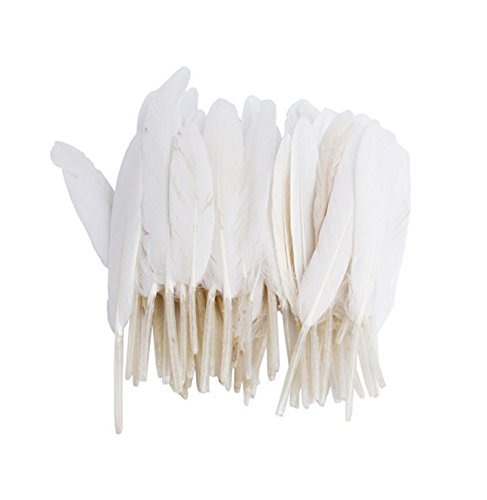 Vivian White Goose Feathers 6-8 inch Craft For Wedding Party Decor Pack of 100 PCS