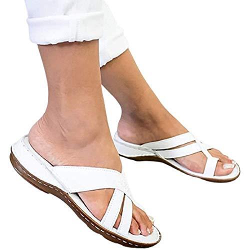 AFANG Chanclas Sandalias Mujer Zapatos Verano, tacón bajo cuña Diamantes imitación Sandalias Zapatillas Playa Impermeablestacón cuña Zapatillas Flops Sandal Sexy Simple,D,41