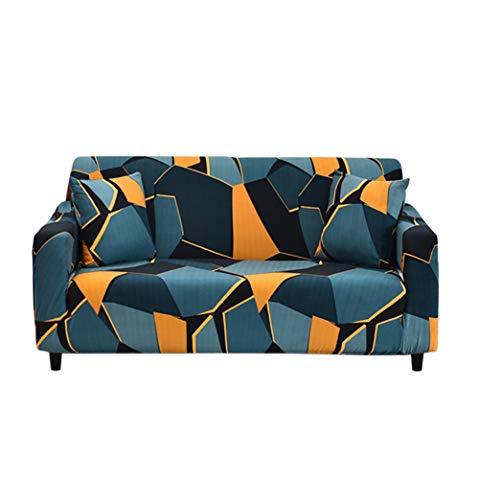 HOTNIU Elastischer Sofabezug 1 Sitzer Sofahusse Strech Sofa Überzug Couch Cover Muster Couchbezug Sofabezüge Schonbezug Couch Antirutsch Hussen für Sessel mit 1 Kissenbezug, Muster#swkj