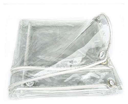 CXF Transparente Plane wasserdichte PVC wasserdichte Transparente Plane Mit Ösen, 0.3mm Größe Kann Angepasst Werden (Size : 1.2x2m)